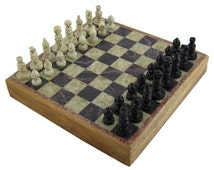 Stylla London Antique luxury Handmade Marble Inlaid Stone Chess Board and Pieces unique marble chess set Christmas Gift