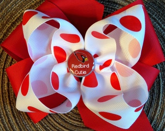 Cardinals X-Large Boutique Hairbow.