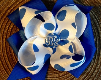 UK Wildcats X-Large Boutique Hairbow.