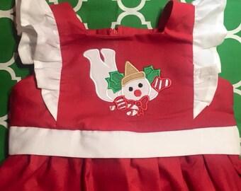Baby Girls' Christmas Appliquéd Dress