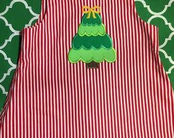 Baby Girls' Christmas Appliquéd Dress with Bloomers