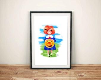 Madeline Printable Art Work - Nursery Artwork - Madeline Illustration