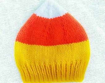 Knit Newborn / Baby Candy Corn Hat / Photo Prop