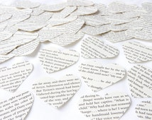 Game of Thrones heart confetti, Large scrapbook confetti, Recycled book confetti, Wedding confetti, Handmade in England