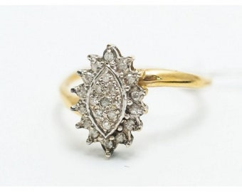 Ring Mineralife Marquise gold yellow, Platinum, diamond