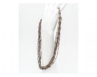 Necklace is unique Mineralife hand cash and iolite balls (Cordierite)