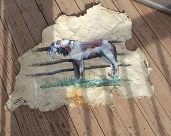 Deer Skin Horse Art - Free Shipping