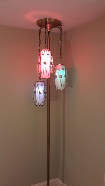 mid century modern tension pole lamp. Black Bedroom Furniture Sets. Home Design Ideas