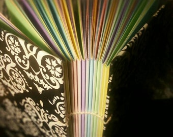 Open spine filigree pastel soul script journal