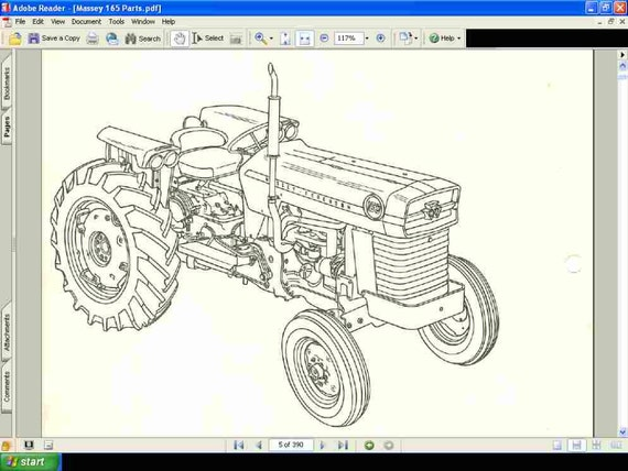 Massey Ferguson 180 Parts Diagram : Massey ferguson tractor parts manual pg of exploded