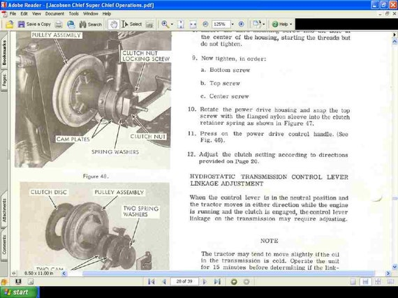 JACOBSEN TRACTOR OPERATIONSs and PARTs MANUALs 90pgs for 800 – Jacobsen Chief Wiring Diagram