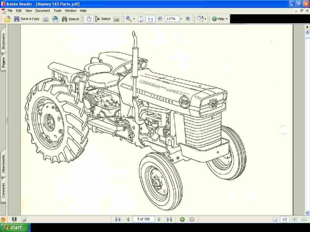 massey ferguson 165 tractor service repair manual