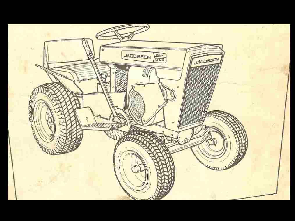 jacobsen tractor operationss and parts manuals 90pgs for 800 lawn chief riding mower wiring diagram #14