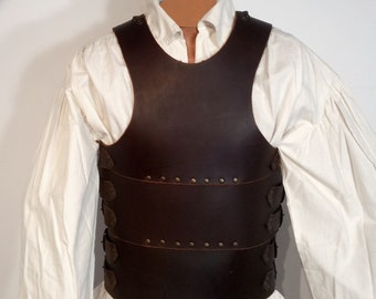 Simple, medieval leather armor, larp