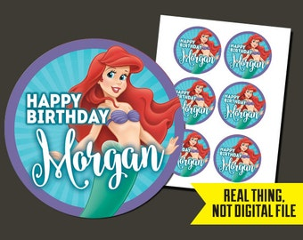 Little Mermaid Stickers - Little Mermaid Birthday Stickers