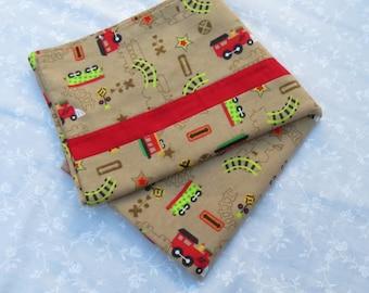 Choo Choo!, Trains Children's Pillowcases, Pillowcase for Kids, Train Decor, Bedding with Trains, Pillowcases, Train Decorations