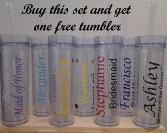 Personalized Tumbler Set of 9