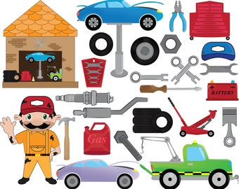 Mechanical - Digital Clipart, Clip Art Graphics, Personal Use, Commercial Use, Instant download