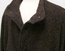 CLEARANCE Members Only men's heavy wool tweed coat 1980's XL
