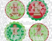 SVG Christmas Gingerbread Winter Holiday designs for  Silhouette or other craft cutters (.svg/.dxf/.eps)