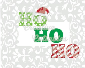 Christmas Santa Ho Ho Ho SVG designs or  Silhouette or other craft cutters (.svg/.dxf/.eps)