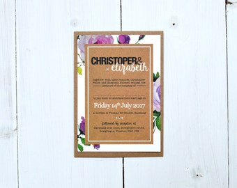 Fabulous Floral Wedding Invitation