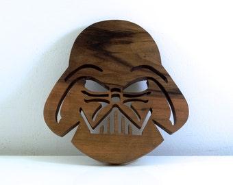 Star Wars Trivet ( Darth Vader ) From Walnut wood // kitchenware Star Wars board // unusual Star Wars Gifts // wooden board kitchen