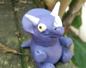 Ooak Triceratops Figurine