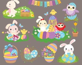 Happy Easter Digital Clipart