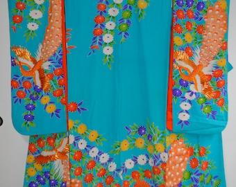 Vintage Japanese Woman's Wedding Kimono/ 090
