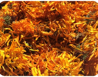 1 Ounce Dried Organic Calendula Flowers