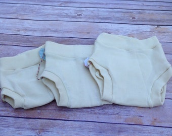 Clearance 25% off, Merino Wool Interlock diaper cover with sewn in soaker, Ready to ship