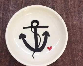 Anchor jewelry dish