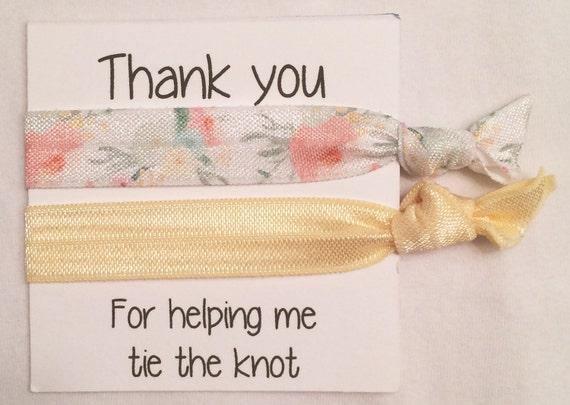Brisesmaid hair tie favor//hair tie favors, hair tie card, bridesmaid hair tie card, bachelorette favor, wedding, bridal shower, bridesmaid