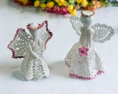Crochet angel. Knit angel decoration. Christmas tree decoration. Nursery room decoration. Christmas gift.