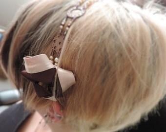 """Headband steampunk """"Belle Epoque"""" - copper"""