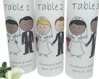 Wedding Reception Decorations -Table Number Luminaries -Wedding Table Number -Wedding Luminaries -Wedding Decoration -Wedding Reception