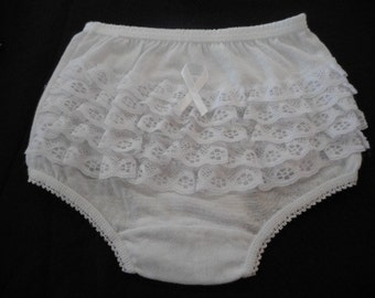 Ruffle Panties - Diaper Cover - Rumba Panties .. 100% COTTON