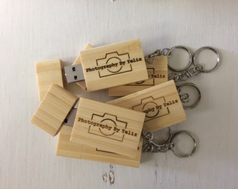 Personalized USB Flash Drive, Custom Thumb Drive, USB, Photographer Gifts - 4GB or 8GB
