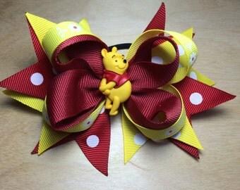 Winnie the Pooh Hair Bow