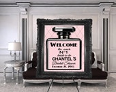 DIGITAL FILE Welcome Sign, Babyshower, Bridal Shower, Fashion Baby Shower, Fashion Bridal Shower, Fashion Birthday, Couture Party
