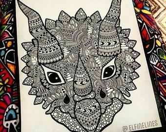 Triceratops Head