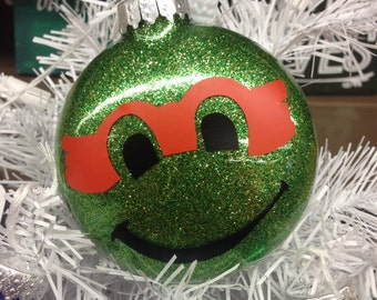 Holiday Christmas Tree Ornament Teenage Mutant Ninja Turtle Michaelangelo Orange
