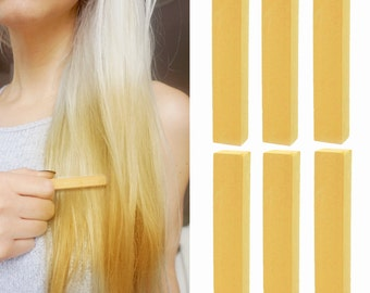 6 Best Temporary Dark Blonde hair Dye for dark and light hair - Set of 6 | DIY Buff hair Chalk for easy and simple hair coloring at home