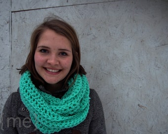 Mint Crochet Scarf