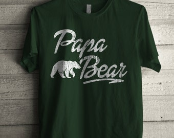 Men's Papa Bear Shirt Printed Unisex Adult Fathers Day Graphic T-shirt #1313 By Expression Tees Trending Clothing / Apparel Usa Seller