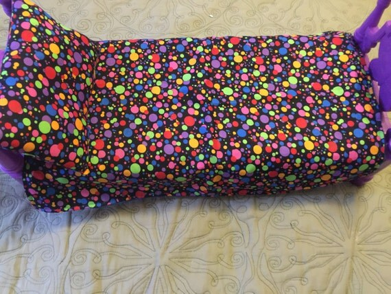American Girl Doll COLORFUL DOTS Fabric Tradition Custom Made Blanket & Pillow Authentic Minky and Cotton Fabric Doll 19 x 24 Blanket Set