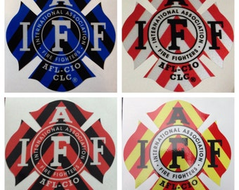 IAFF Reflective Career Firefighter EMS EMT Paramedic Chevron Helmet or Vehicle Decal Stickers 3M Vinyl