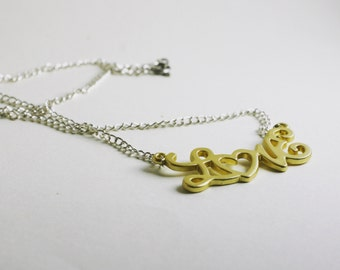 Gift-FREE SHIPPING Gold Love Necklace