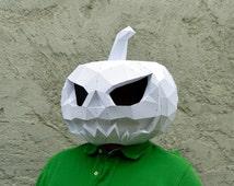 Make Your Pumpkin Mask. | Papercraft Pumpkin Mask | Halloween Mask | Paper Pumpkin | Jack O Lantern | Halloween Costume | Plain Papyrus